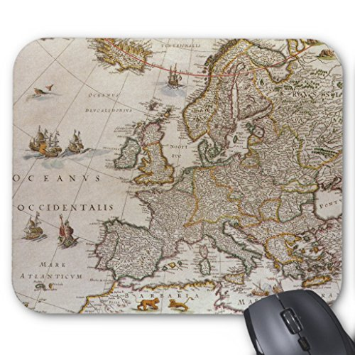 Zazzle Antique Map Of Europe By Willem Jansz Blaeu, C1617 Mouse (Blaeu Antique Map)