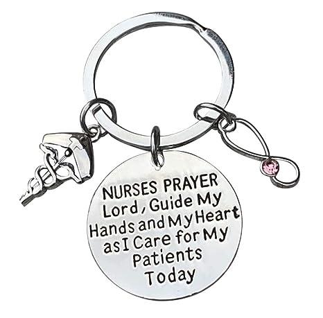 Amazon.com: Llavero de enfermera con piedra natalicia ...