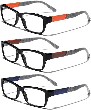 Men Metal Rectangle shape clear lens strong Eyeglasses