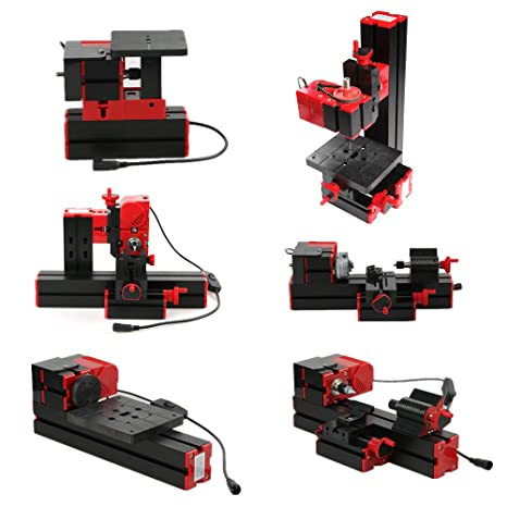 Used Milling Machines Power Tools Tools Home Amazon Com >> Kkmoon Mini Metal Lathe Diy 6 In 1 Multi Functional Motorized Transformer Multipurpose Machine Jigsaw Grinder Driller Plastic Wood Lathe Drilling