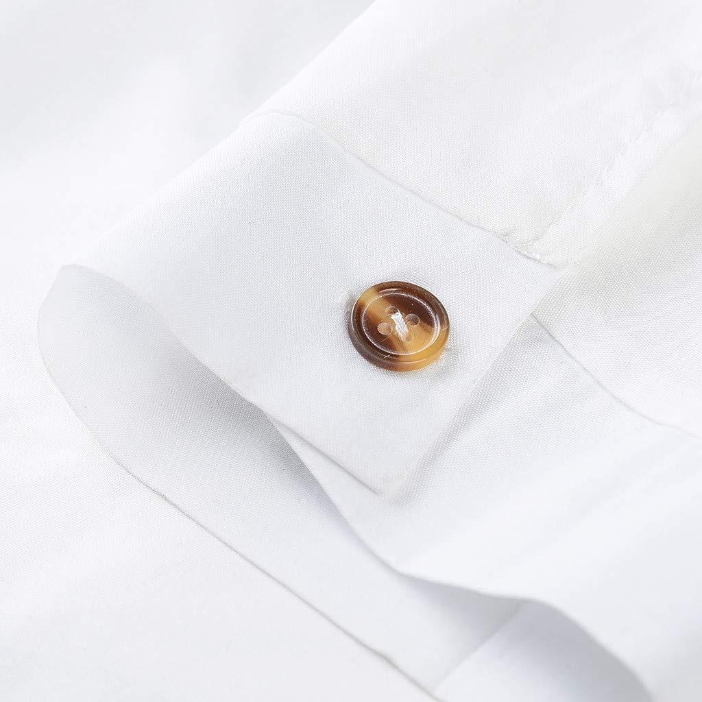 Mens Summer Casual Tops Fashion Pure-Colour Large Size Clothes Button Jumpsuit Set