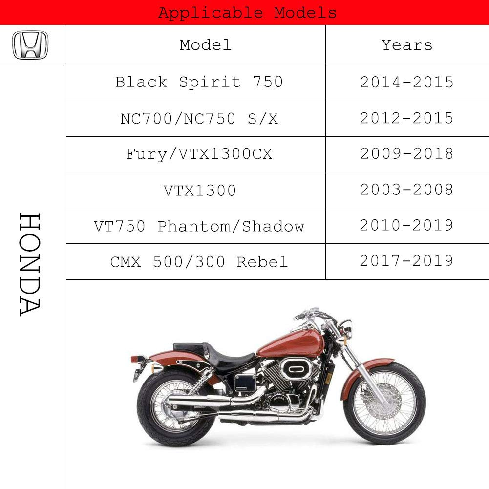 CMX 500//300 Rebel // 500 Rebel 2017-2019 Bremshebel Schwarz Brems Kupplungshebel f/ür HONDA Spirit 750 2014-2015 T/ÜV NC750 S//X 2014-2015 VT750 Shadow//Phantom 2010-2019