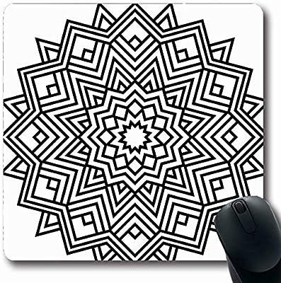 Luancrop Tapetes Círculo Geométrico Mandalas Página de Libro para ...