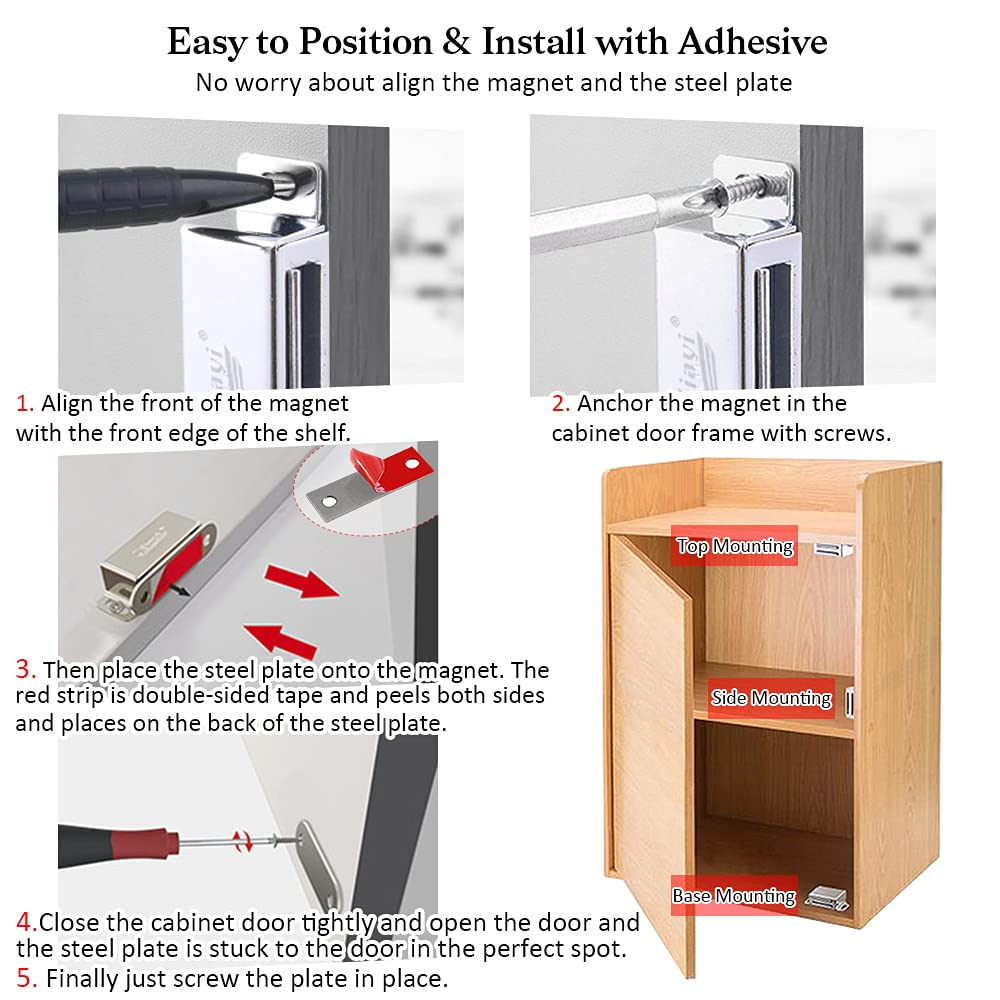 Closing Magnetic Double KG 6 with Plate Adjustable X Door Double Closet