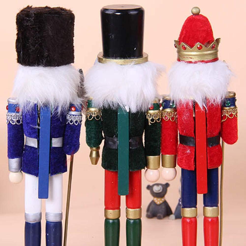 bambola legno schiaccianoci soldato Puppet regalo decorazione per feste di Natale per bambini Ridecyle Natale appeso bambola