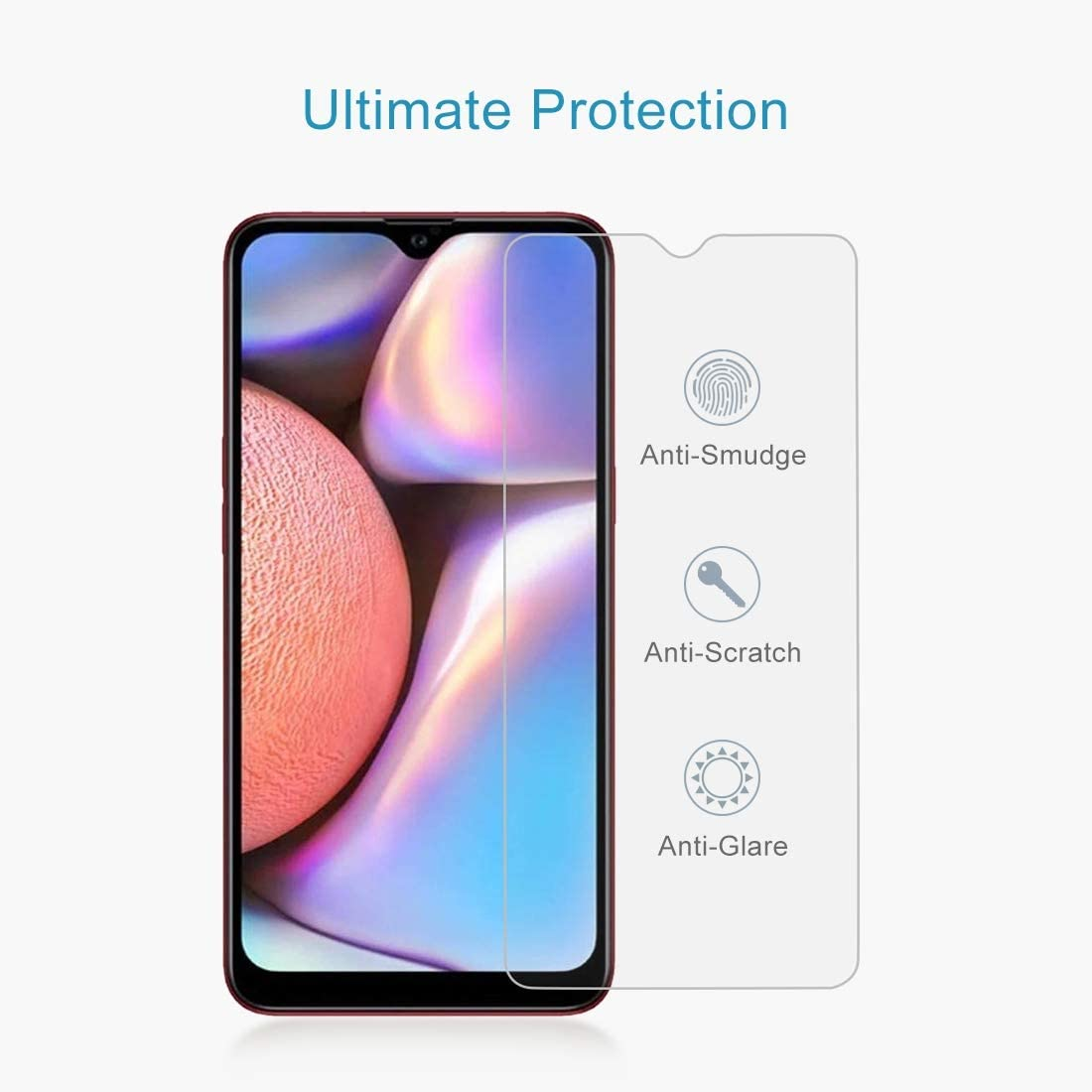 LGYD 50 PCS 0.26mm 9H 2.5D Tempered Glass Film for Galaxy A10s Screen Protector Film