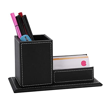 Office & School Supplies Pen Holders Shop For Cheap Office Desktop Decor Storage Box Leather Organizer Mail Notes Business Card Pen Pencil Remote Control Mobile Phone Holder Latest Technology