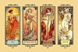 "Four Seasons Winter Spring Summer Autumn by Alphonse Mucha Vintage Poster Repro 24"" X 36"" Image Size SHIPPED ROLLED. We Have Other Sizes Available!"