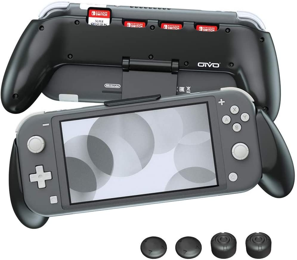 OIVO Funda Grip Case para la Nintendo Switch Lite, asimétrico Carcasa de Protección con 4 Ranuras para Juegos: Amazon.es: Electrónica