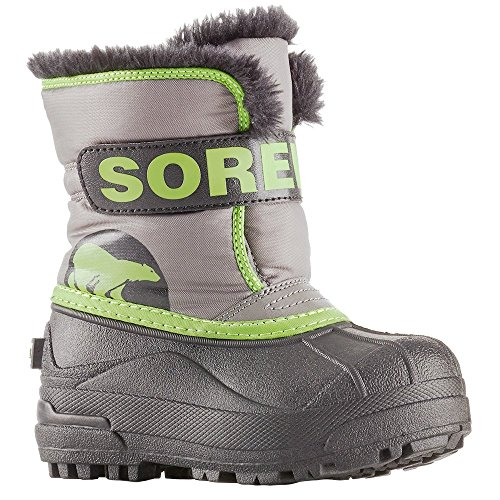 - Sorel Baby Snow Commander, Quarry, Cyber Green, 5 M US Toddler