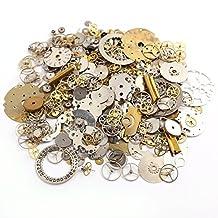 Surepromise 50g Cyberpunk Vintage Steampunk Jewelry Cogs Gears Wheels Watch Parts Craft Arts