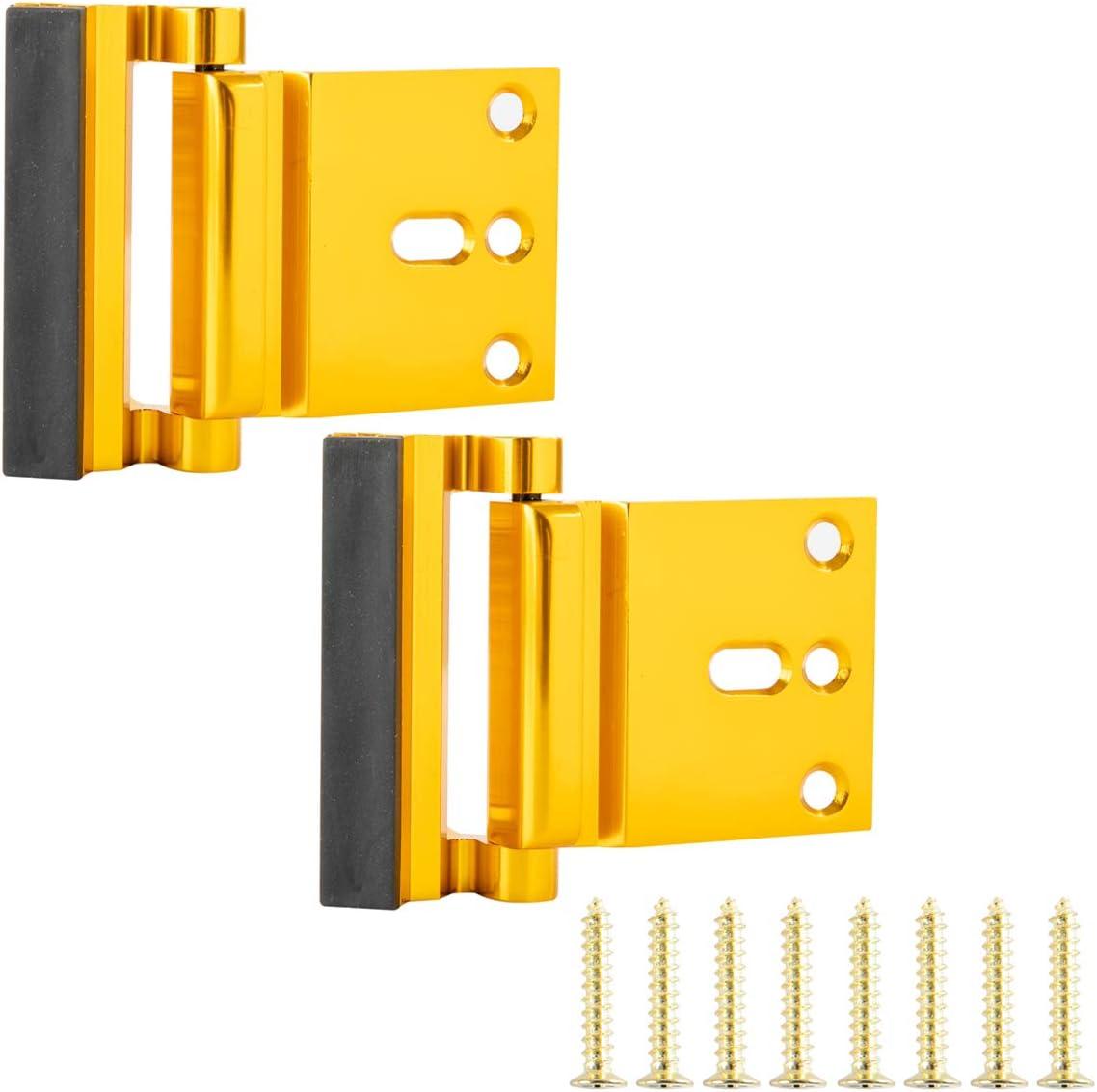 AmazonBasics Cerradura de refuerzo para puerta - 2 unidades, latón pulido: Amazon.es: Bricolaje y herramientas