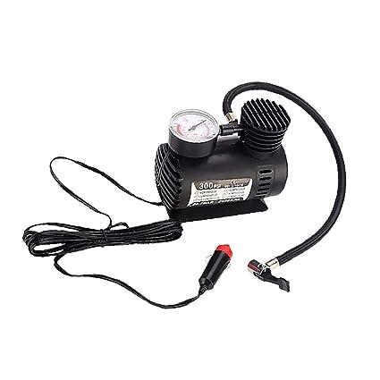 MagiDeal Mini Compresor de Aire Inflador de Neumático con Calibrador 300 PSI 12V para Vehículos