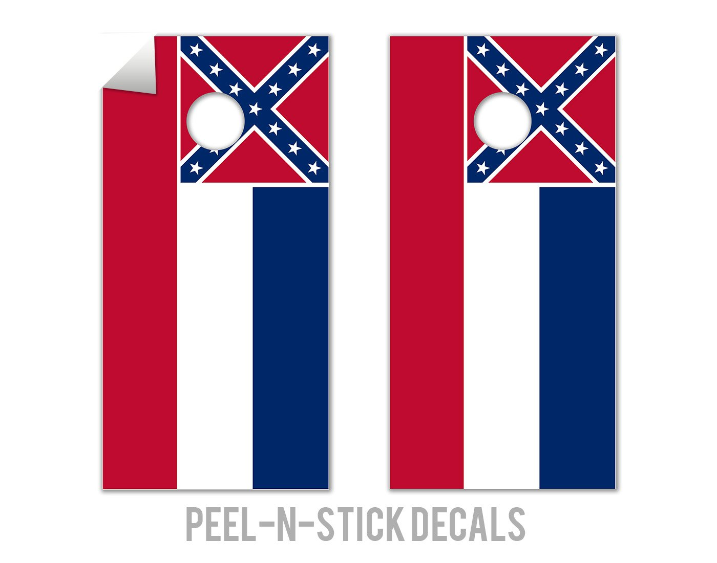 Mississippi State Flag - Cornhole Crew - ACA Regulation Size Cornhole Board Decals by The Cornhole Crew