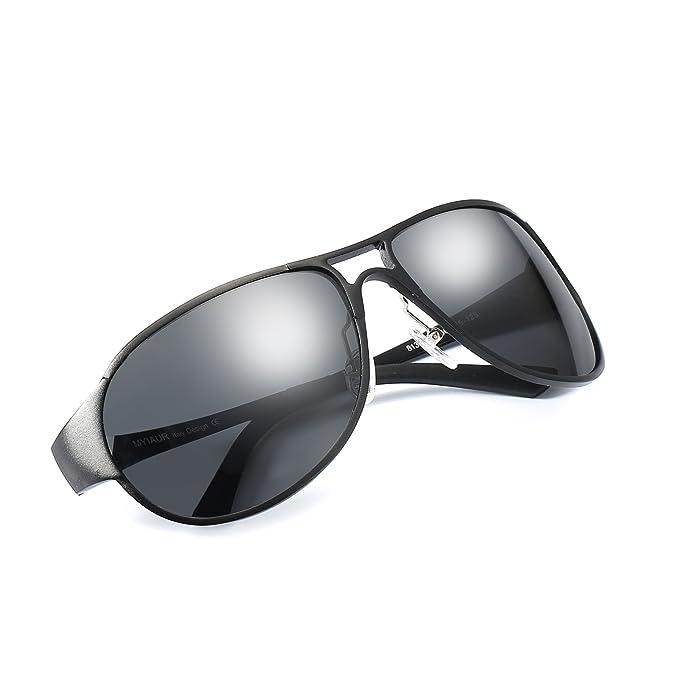 ELIVWR Hombre Aviador Polarizadas Gafas de Sol Ultraligero Metal 100% de Protección Contra los Rayos UVA/UVB Dañi