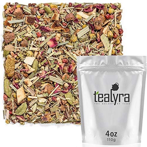 (Tealyra - Wildflower Bouquet Herbal Tea - Chamomile - Fennel - Lemongrass - Health Tonic - Loose Leaf Tea - Relaxing - Anti-Inflammatory - Anti-Stress - Caffeine-Free - 112g (4-ounce) )