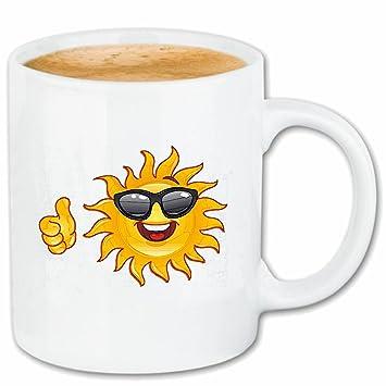 Taza párrafo café SONRIENTE ALS sol con gafas de sol SMILEY ...