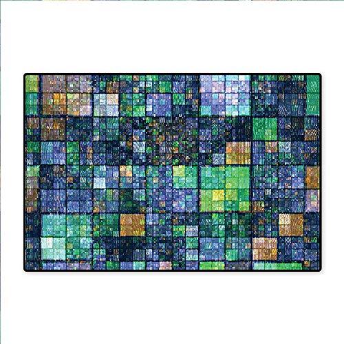 "Home Décor Rug Casino Background with Dead Skeleton Poker King Gambler Vegas Smart Game Graphic Color Bath mat Non Slip Absorbent 36""x48"""