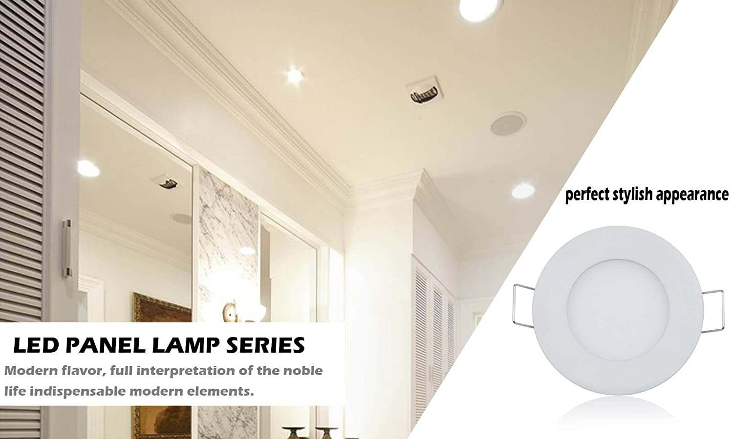 Lemonbest dimmable 12w led panel light round recessed ceiling lemonbest dimmable 12w led panel light round recessed ceiling downlight with led driver warm white amazon home kitchen aloadofball Images