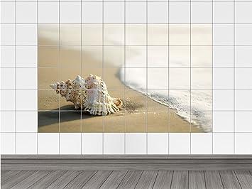 Tile adesivi piastrelle tattoo bagno spiaggia conchiglia mare