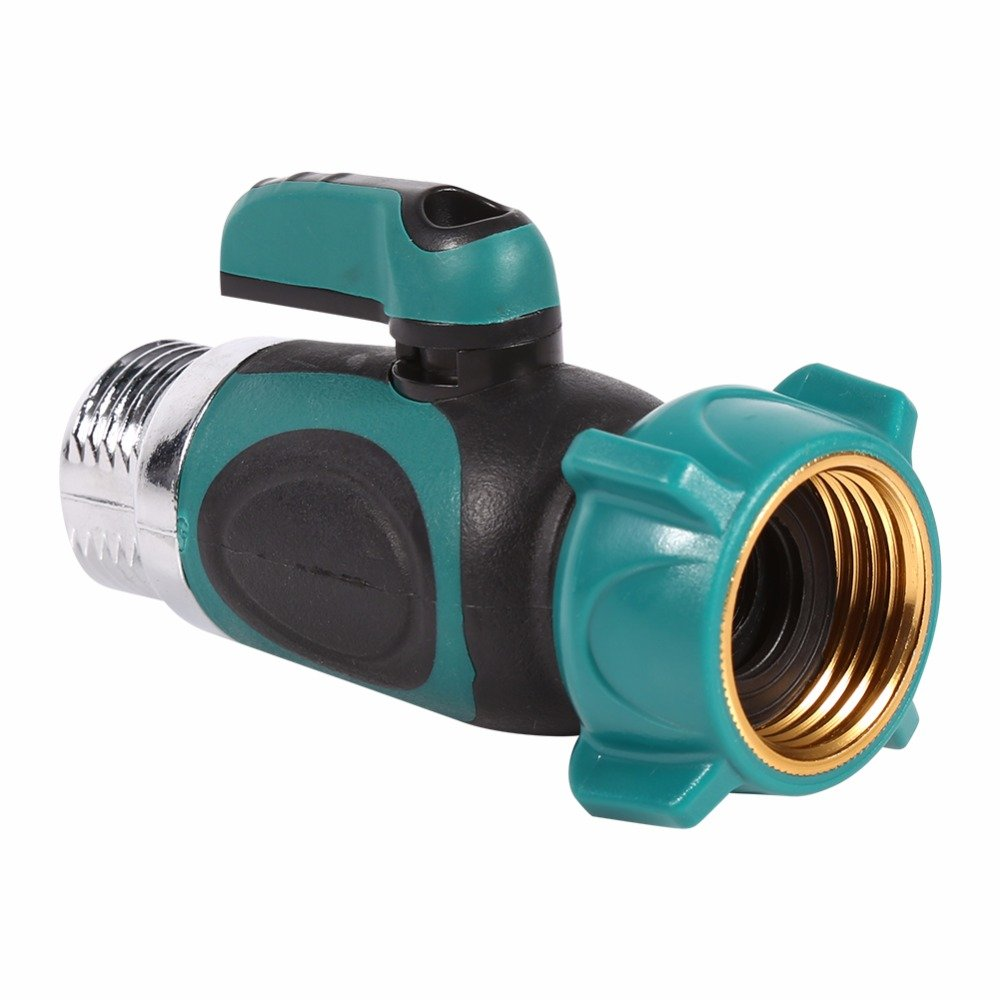 """Dugoo Garden Hose Connector 1 Way 3/4"""",Shut-Off Valve Water Pipe Faucet Joint Adapter Hose Quick Connector Switch Valve No Leaking Lead-Free Adapter Fits 3/4 Inch Hoses,1Pack"""