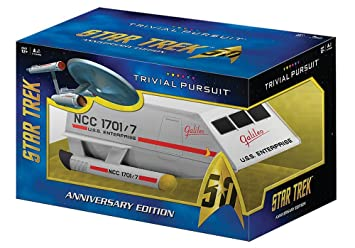 TRIVIAL PURSUIT Star Trek 50th Anniversary Edition Game by ...