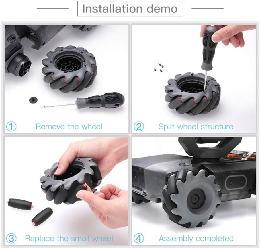 12PC Rubber Roller Wheel /& Foldable Addition Bracket Parts For DJI RoboMaster S1