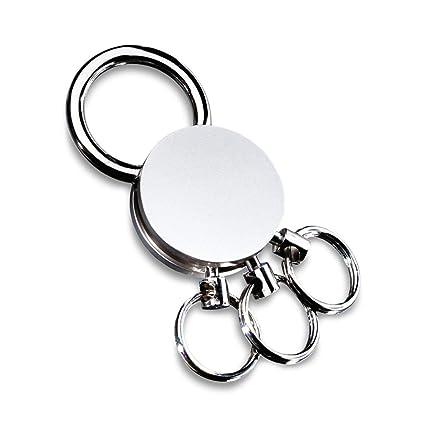 REFLECTS Llavero con múltiples Anillos extraíbles Multi Plata, Metal