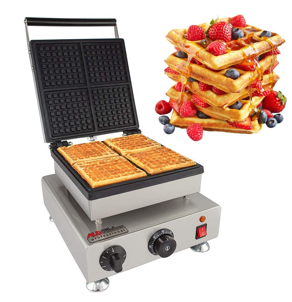 ALDKitchen Swing type BELIGIUM Waffle maker Nonstick Electric Egg Biscuit Roll Maker Machine Bake Machine (Squares)