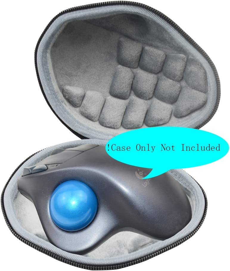 Hard Travel Case Bag for Logitech M570 Wireless Trackball Mouse by SANVSEN
