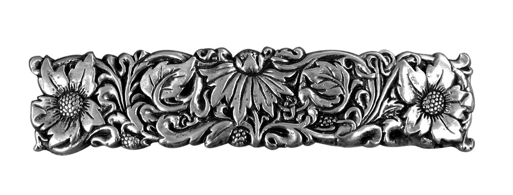 Wildflower Hair Clip - Hand Crafted Metal Barrette Made in the USA with imported French Clips By Oberon Design …