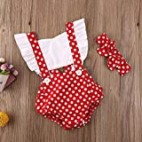 WALLARENEAR Newborn Baby Girl Sleeveless Romper