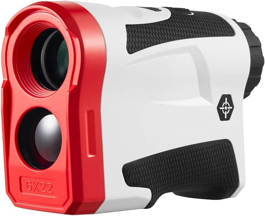BIJIA Golf Rangefinder with Slope – 6X Laser Range Finder 650 Yards with Pinsensor, Flag Lock, SlopeCorrection, Distance Measurement,Vibration and USB