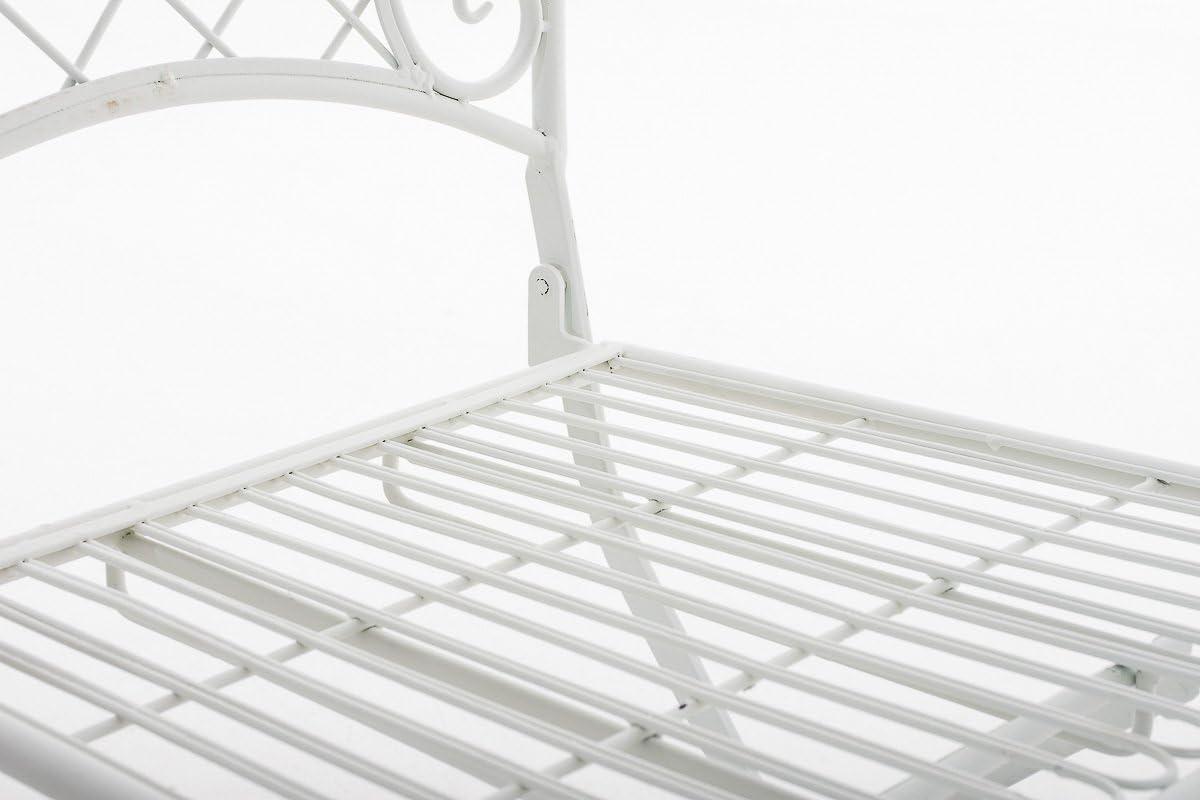 CLP Eisen-Klappstuhl ADELAR Design I Klappbarer Gartenstuhl mit edlen Verzierungen I erh/ältlich Antik Braun
