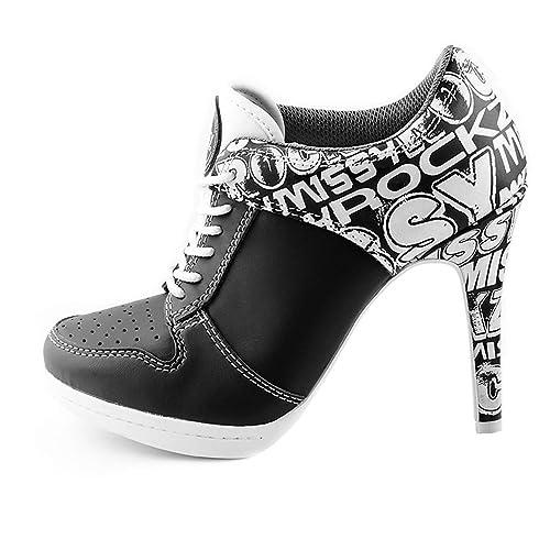 21de5f2e190f3c MISSY ROCKZ Bequeme Sneaker High Heels Damenschuhe Street ROCKZ ...
