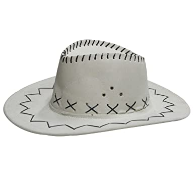 1754f4f3f9225d SPENCA Unisex's Cotton Cowboy Hat(Off/WhiteFree Size): Amazon.in ...