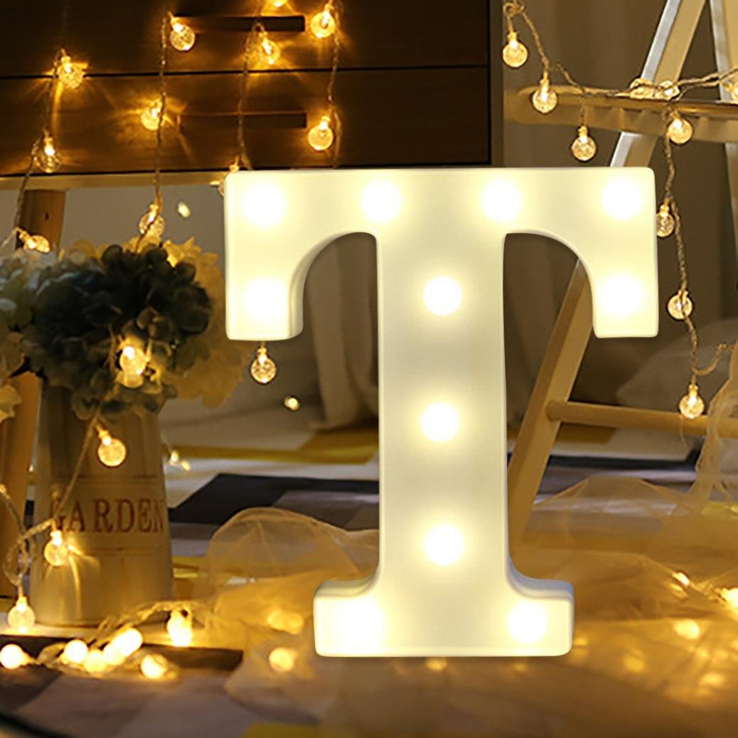 Amazon.com: Light Up Letters,SMYTShop Warm White LED Letter Light Up ...