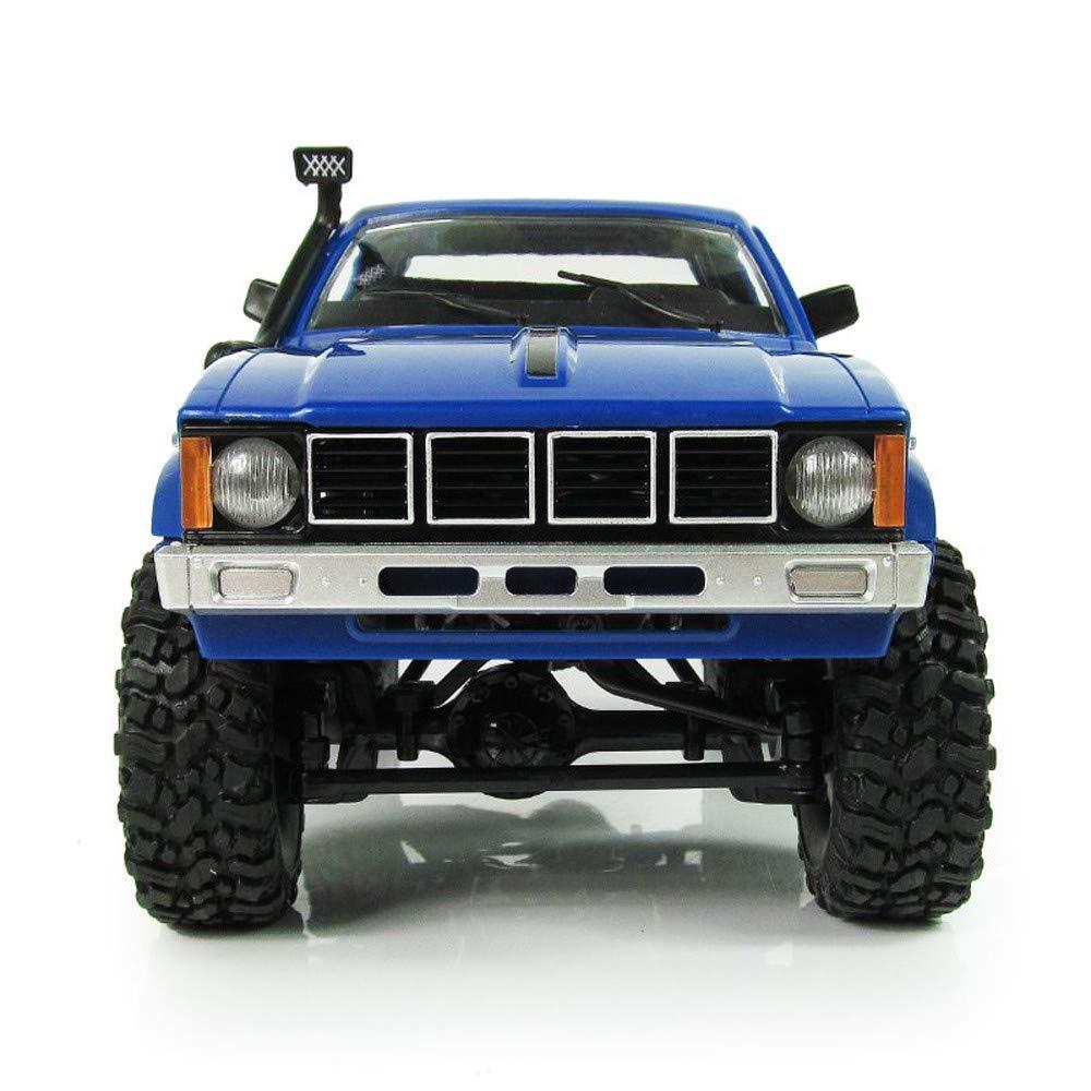 Littleice WPL WD RC Truck 1/16 2.4Ghz リモートコントロール クローラー ミリタリー トラック 組み立てキット リモートコントロール 車両玩具 31*11.3*14.7cm/ 12.2*4.45*5.79in ブルー RC Truck  ブルー B07GDD9KMC