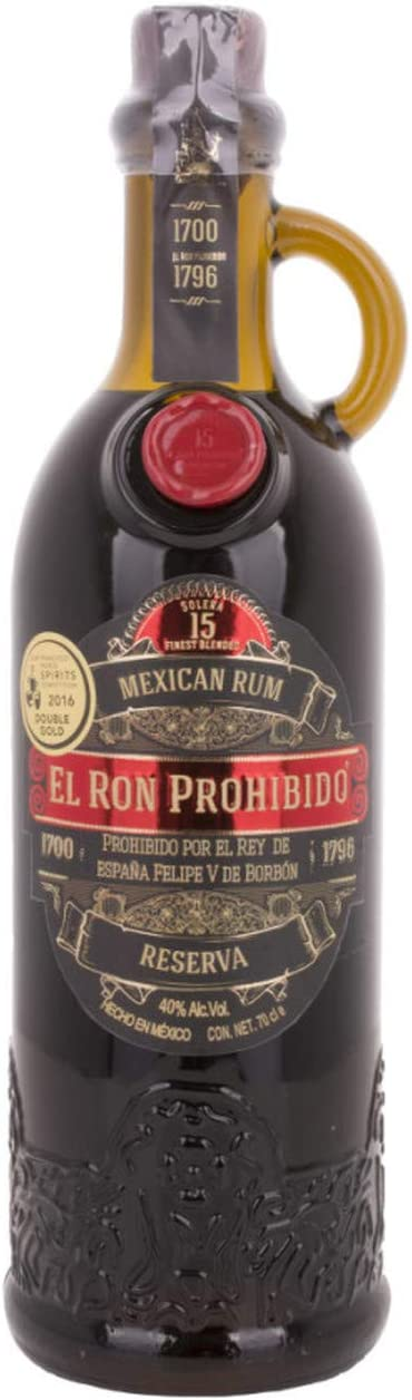 El Ron Prohibido Solera 15 Reserva Finest Blended Mexican Rum ...