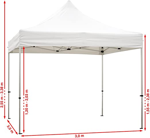 TOOLPORT Carpa Plegable Pabellón Carpa Plegable 3x3m - 2 Partes ...
