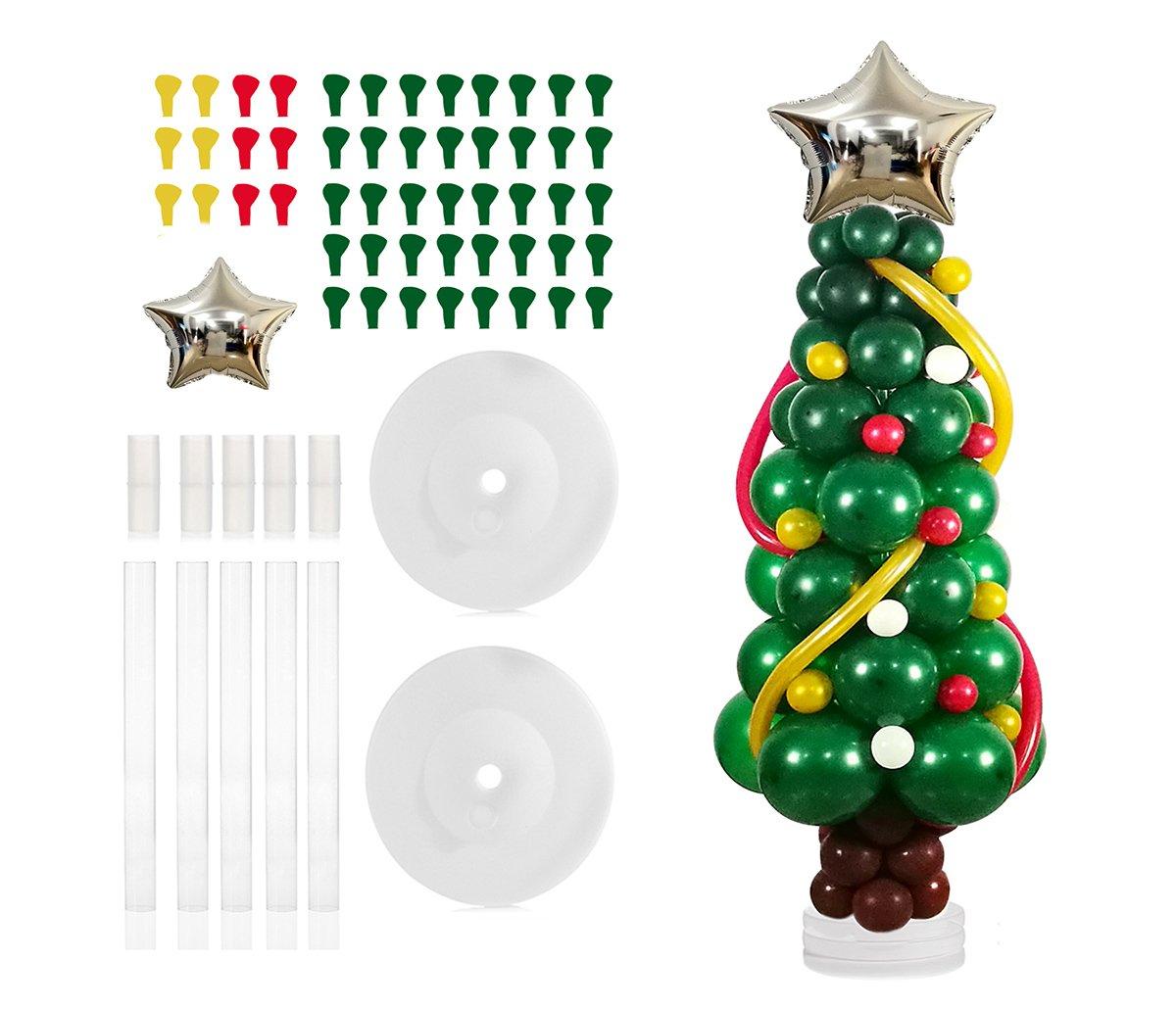 Amazon.com: Balloon Christmas Tree Balloon Column Stand Base and ...