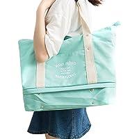 Damen Herren Trendy Reisetasche Segeltuchtasche Strandtasche Für Wochenend Urlaub