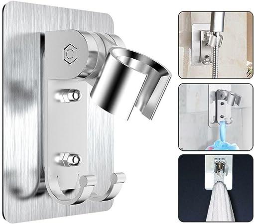 supporto da parete per doccetta a mano Supporto per soffione doccia adesivo flessibile supporto per doccia girevole a 360/° N9000 Iii
