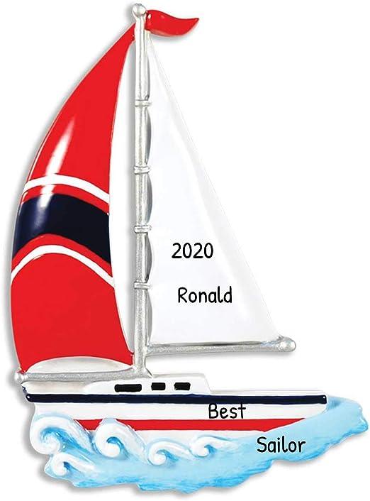 The Christmas Schooner 2020 Amazon.com: Personalized Sailboat Christmas Tree Ornament 2020