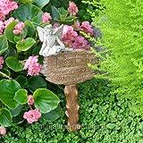 Miniature Fairy Garden Fairy Hattie Bell Garden Stake