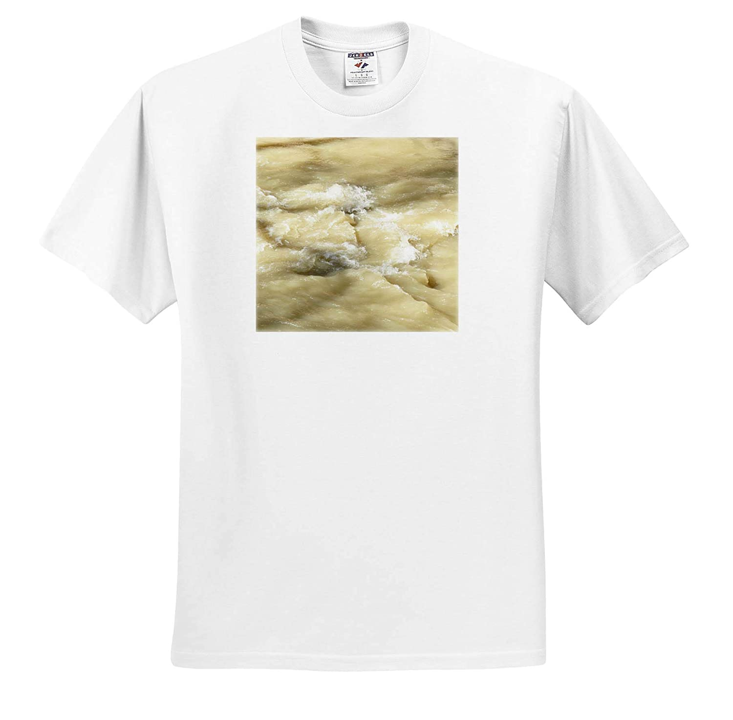 The Rushing Water in The Creek in a Muddy Color 3dRose Jos Fauxtographee- Stream Adult T-Shirt XL ts/_318883