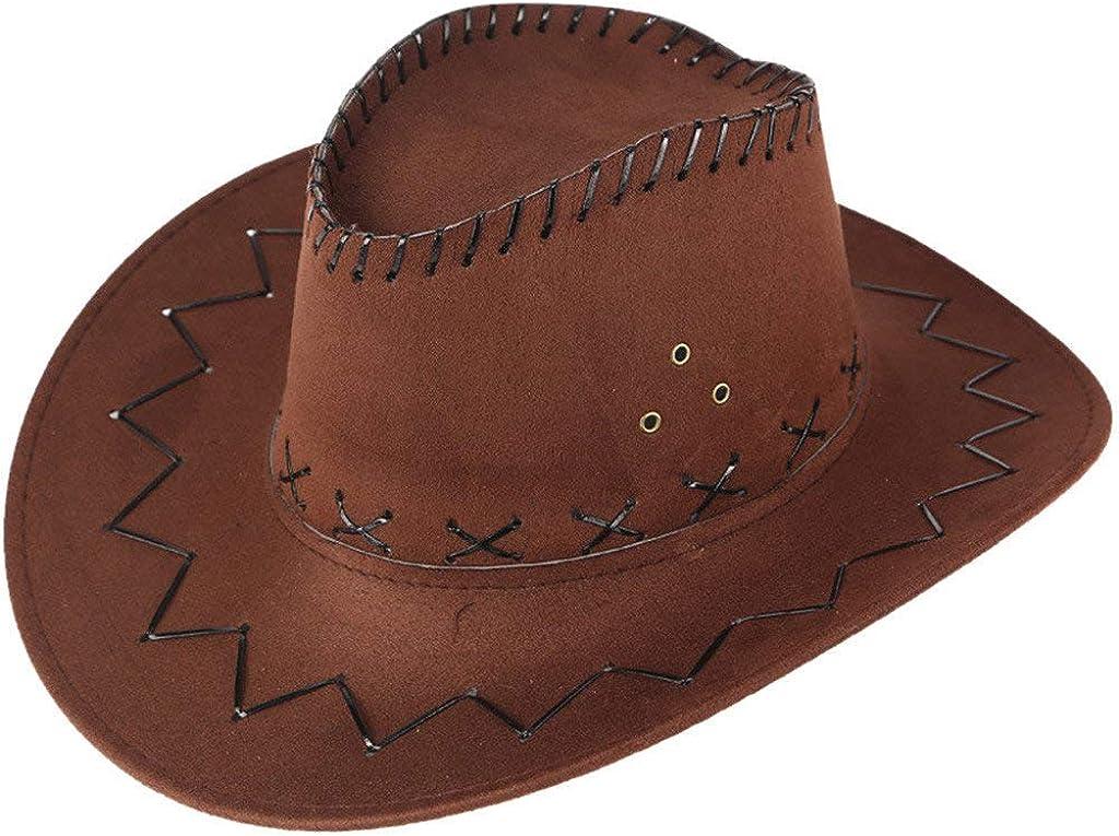 Sombrero Playa Casual Panam para Mujer para Hombre Sombrero para el Sol Verano Viajes al Aire Libre Sombrero de Vaquero Occidental Visera de pastizales Ocio Gorra Montaña riou