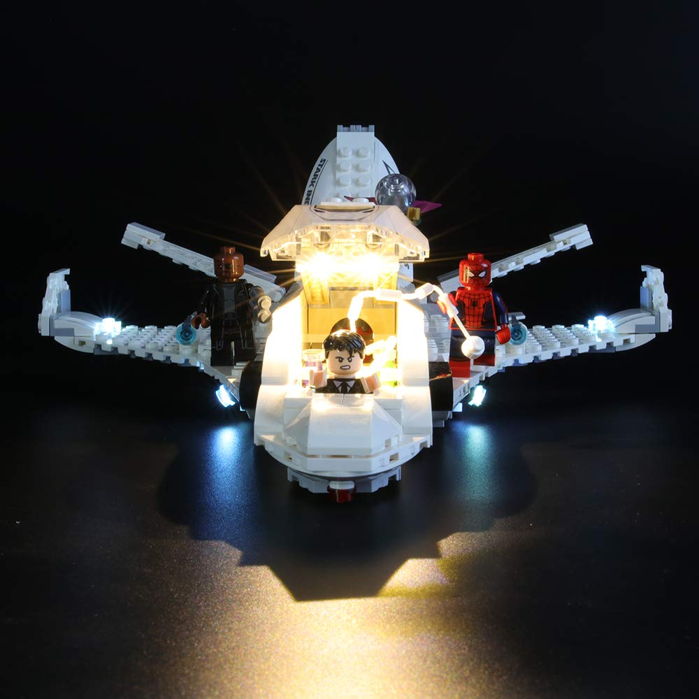 Building Blocks Model LIGHTAILING Light Set for Led Light kit Compatible with Lego 76130 NOT Included The Model Marvel Spider-Man Stark Jet and The Drone Attack