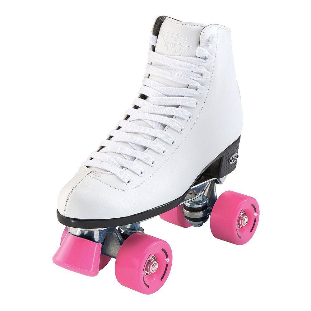 Riedell RW Skates - Wave - Quad Roller Skates for Indoor/Outdoor | White | Size 4 | by Riedell (Image #1)