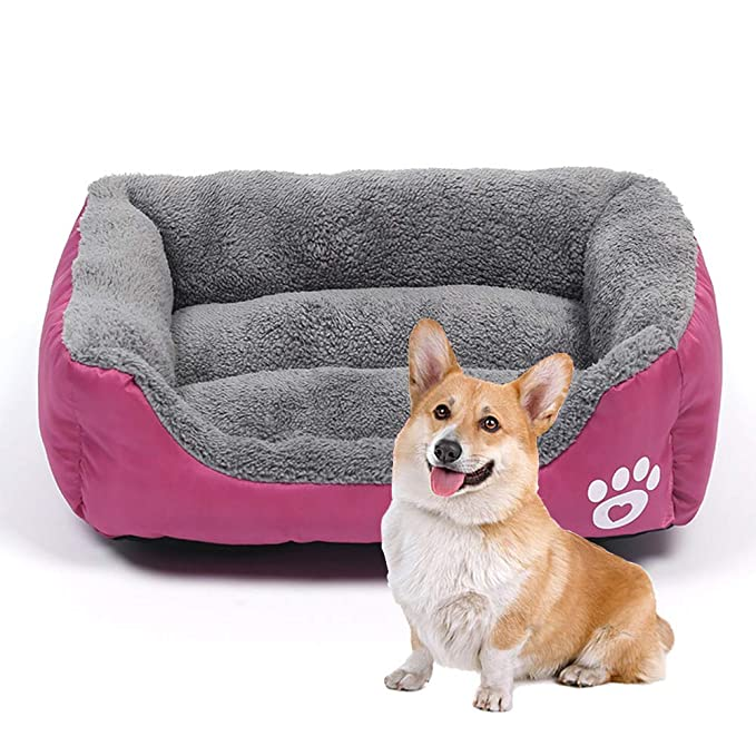 Amazon.com: Pet bed Cat Dog Bed, Square Warm Dog Mat Anti ...